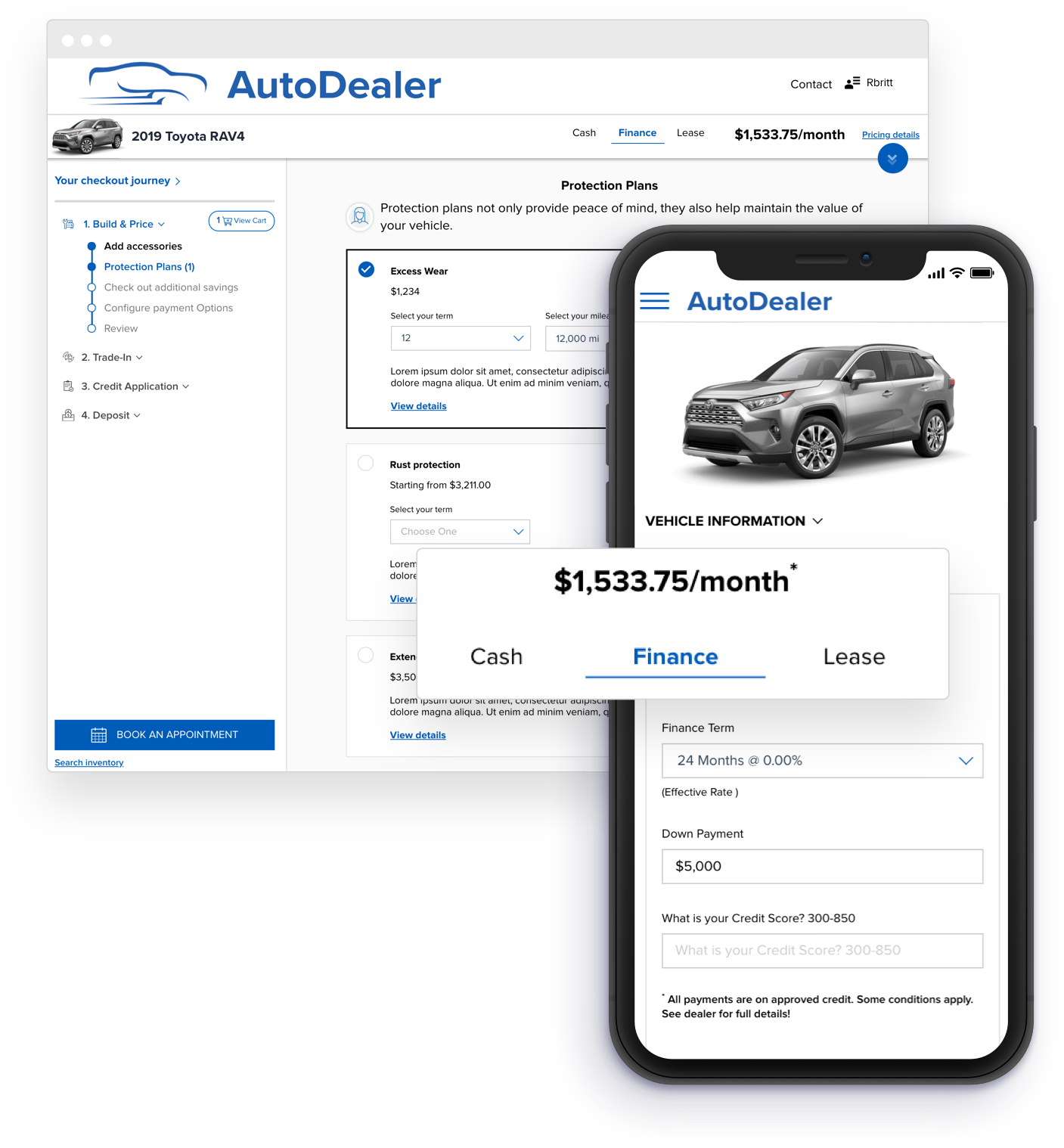 vehicle pricing example